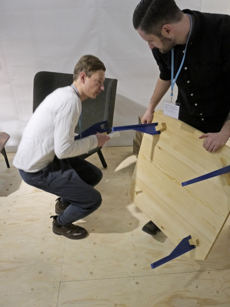 Oscar Narud and my colleague Anders Busk Faarborg, inspecting the first pre-production prototypes in Stockholm 2013.