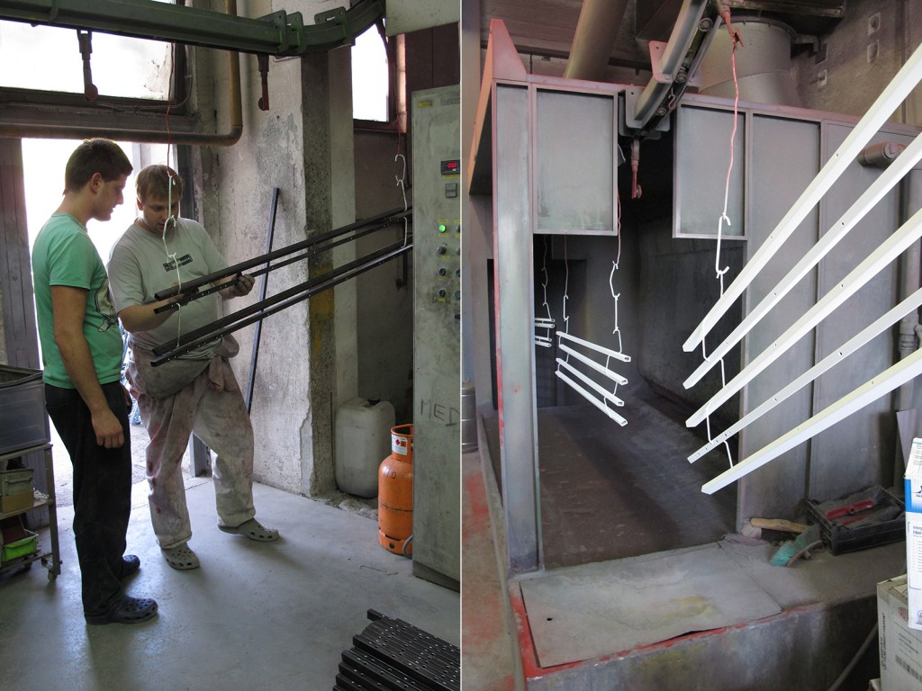 There were some initial challenges with the first batch of powder-coated components mainly caused by lack of thorough cleaning of the system and inconsistent use of the same paint supplier.