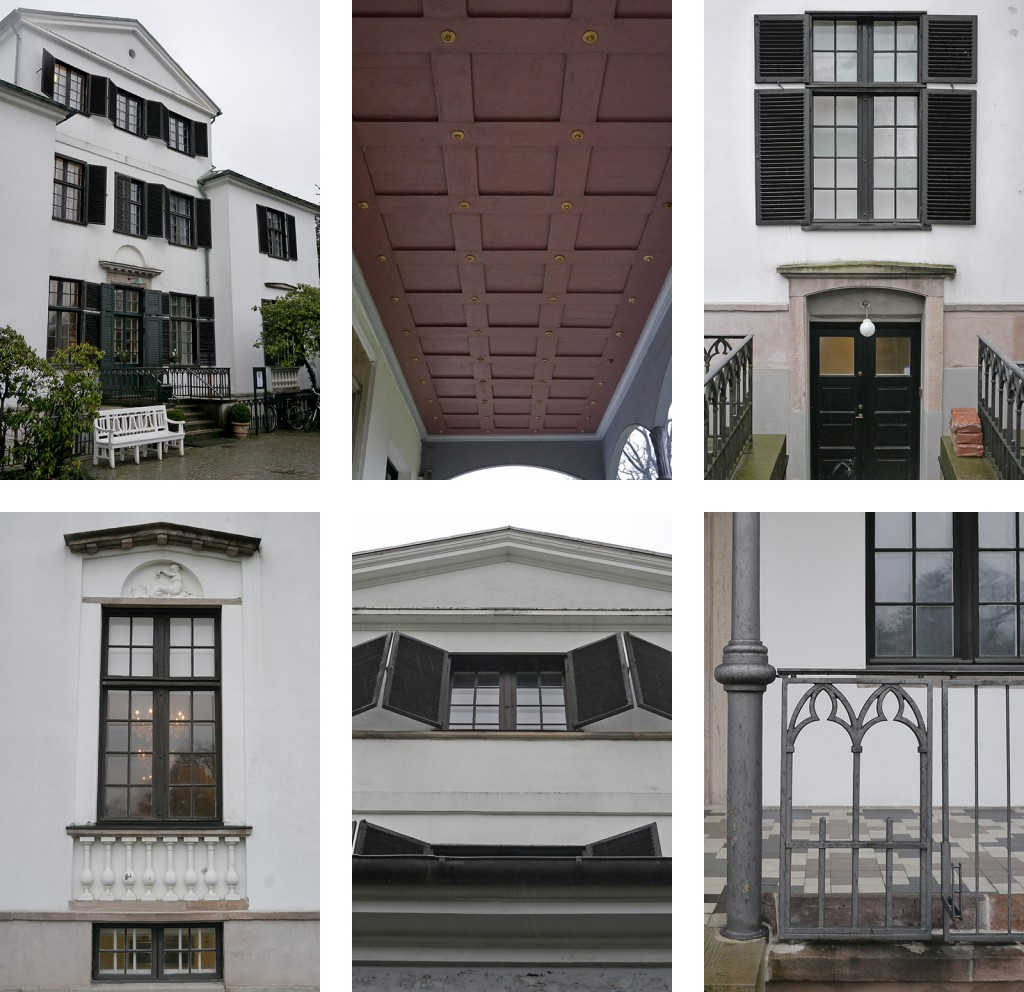 Exterior details on the Øregaard Museum building that I used as inspiration in my design process.